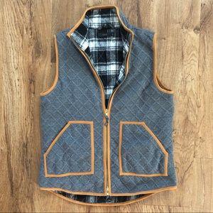 THML Grey Vest Checkered Plaid Lining M Medium